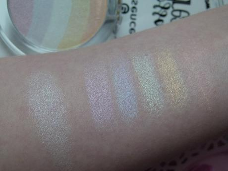 essence Blossom Dreams Rainbow Highlighter Swatches