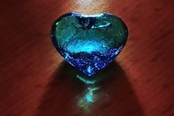 Freitag, das blaue Herz und das Wochenende