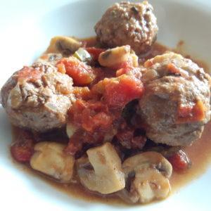 Pikante Fleischklößchen aus Rinderhackfleisch