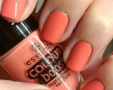 [Nails] Lacke in Farbe ... und bunt! APRICOT mit essence COLOUR boost high pigment nail polish 02 instant fun