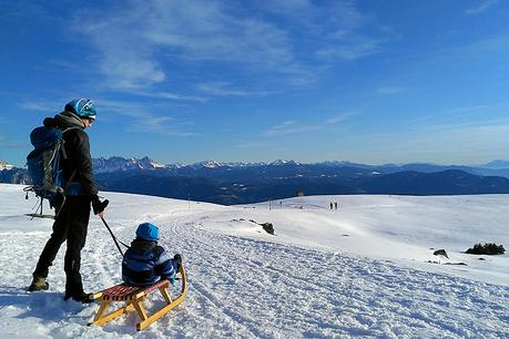 Italien/Südtirol: Frühlingsgefühle im Winter-Wonderland auf dem Ritten