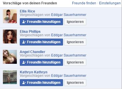 Ärgerlich: Fake Anfragen bei Facebook