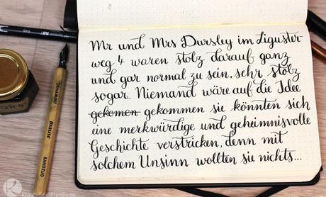 Hand-Lettering: Feder und Tine