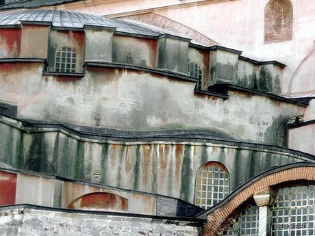 strukturen an der Hagia Sophia
