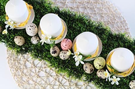 Zusammen mit euch bastele ich heute eine Tischdeco zu Ostern. Ein kleines Osternest für die Bloggeraktion DIY-Ostern.