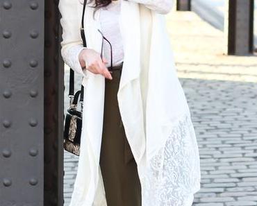 White Coat and Khaki Pants