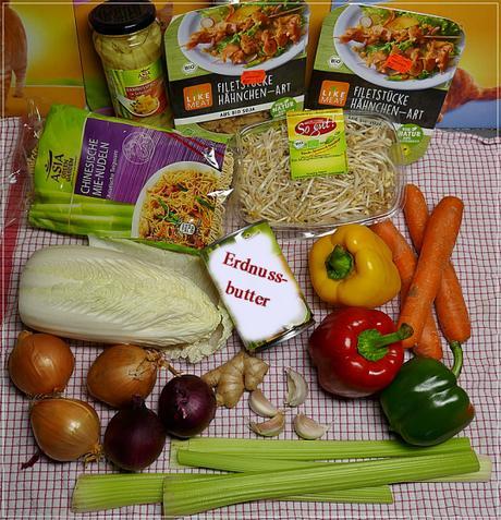 veganes… mit Mie-Nudeln und Erdnussoße
