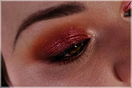 rotes Augenmakeup