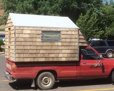 Wooden Camper – Pickup Absetzkabine aus Holz