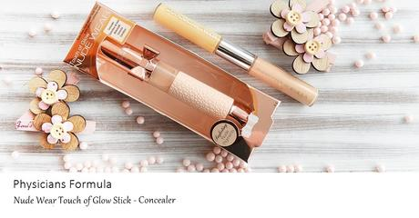 Physicians Formula  - Nude Wear Touch of Glow Stick  & Concealer Twins 2-in-1 Correct & Cover Cream - Yellow/Light