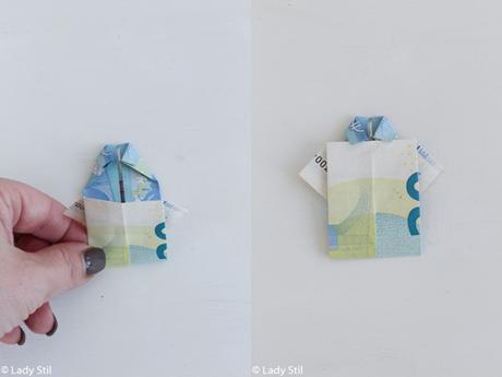 Anleitung Geld in Hemdform falten