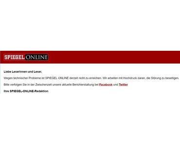 Spiegel Online ist ausgefallen