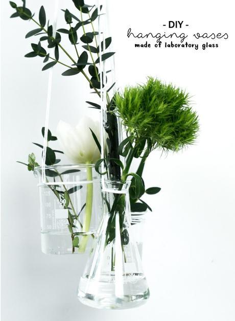 zeit f r fr hling diy vase aus laborgl sern. Black Bedroom Furniture Sets. Home Design Ideas