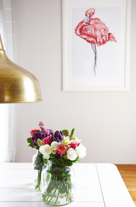 von fr hling zu einem hauch von sommer dank neuer wanddeko in meinem esszimmer. Black Bedroom Furniture Sets. Home Design Ideas