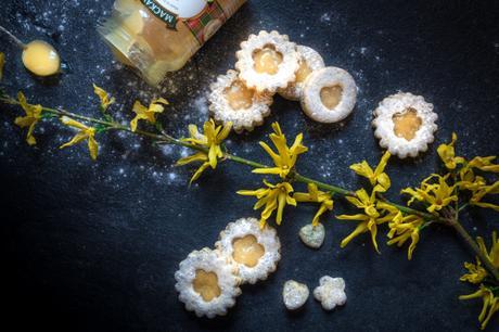Lime Curd Cookies mit Mohn