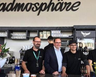 """MOMENTE: Das neue Radcafe """"Radmosphäre"""" am Radschnellweg RS1 hat eröffnet!"""