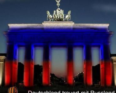 Menschen in Deutschland trauern mit Russland!