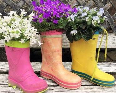 Frühlings-Upcycling: Schuhe mit einem grünen Daumen
