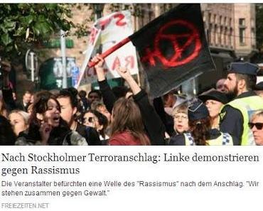 Nach Terroranschlag in Stockholm: Linke demonstrieren Solidarität mit den Tätern