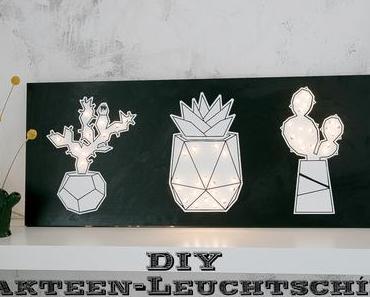DIY Kakteen-Leuchtschild