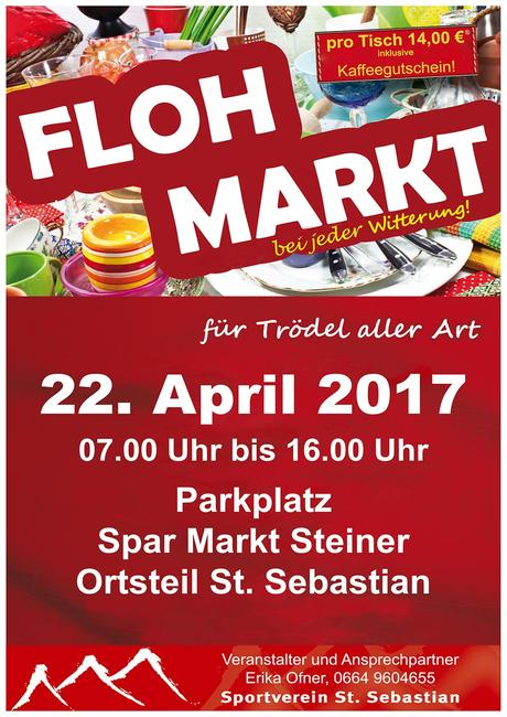 Termintipp: Flohmarkt in St. Sebastian am 22. April 2017