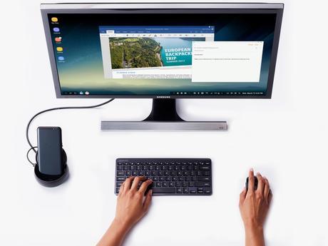 Desktoperweiterung Samsung DeX für Galaxy S8