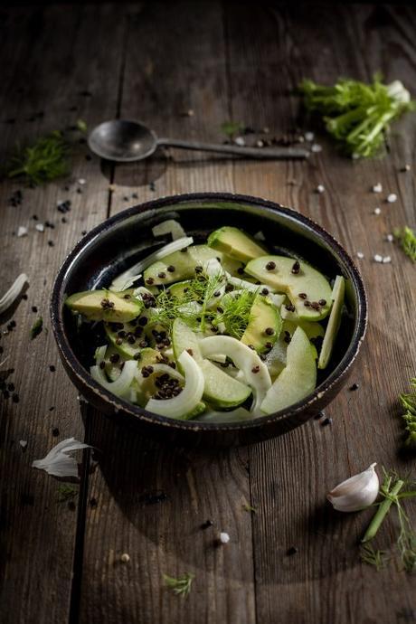 Avocado-Fenchel-Salat, Food-Blog, vegan, glutenfrei, Foodfotografie, Foodstyling, Rezept, Stuttgart