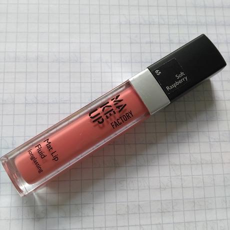 Make Up Factory Mat Lip Fluid Longlasting 65 Soft Raspberry + Alterra Nagellack 01 Rose Blossom