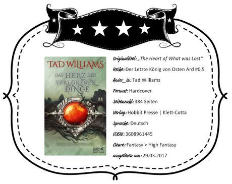 Tad Williams – Das Herz der Verlorenen Dinge
