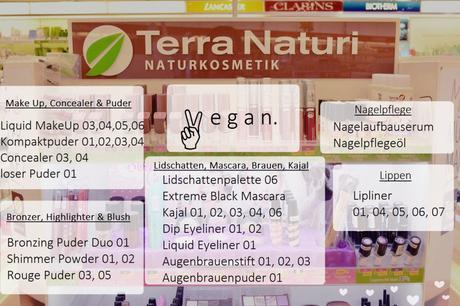 aufgelistet: vegane dekorative Kosmetik von Terra Naturi