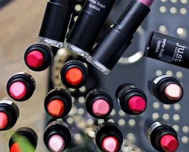 Just Cosmetics matte finish lipsticks