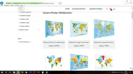 Die Weltkarten als Poster.