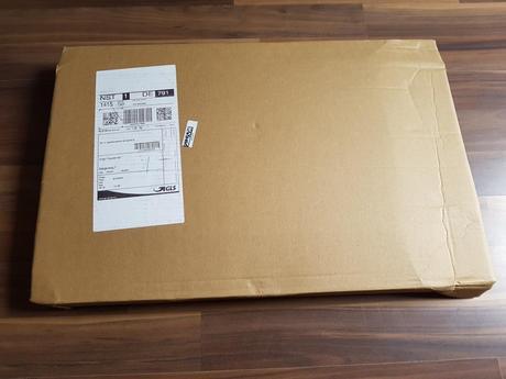 Das gut gesicherte Paket ist angekommen.