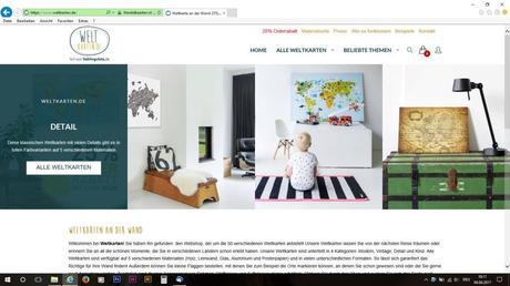 Die Startseite von weltkarten.de.