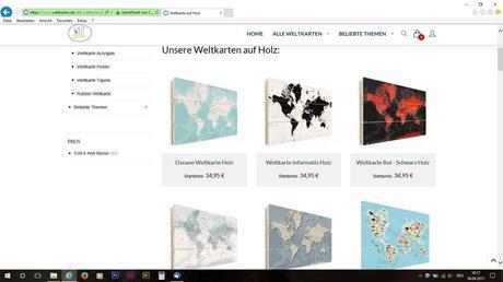 Die Weltkarten auf Holz.