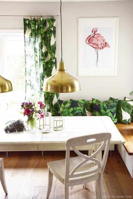 dschungelfieber von der tischdecke zum vorhang ganz ohne n hen. Black Bedroom Furniture Sets. Home Design Ideas