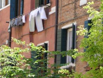 Venedig Wäsche am Sonntag
