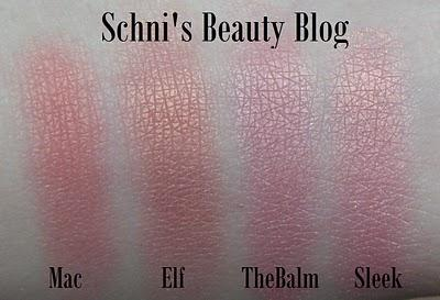 Mac vs. TheBalm vs. Sleek Blush vs. Elf