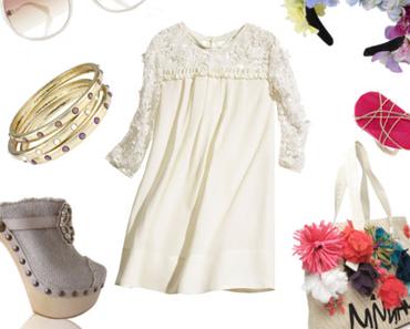 Weißes Kleid im Sommer
