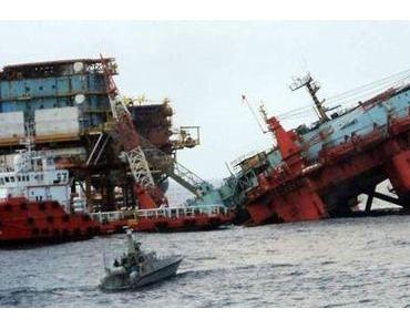 Plattform mit 638 Menschen im Golf von Mexiko gekentert