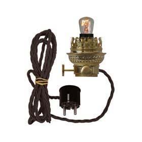 Petroleumlampen elektrisch im Charme der 1920er beleuchtet