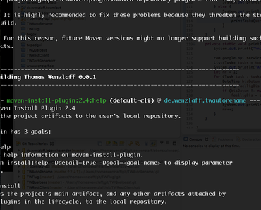 Neues Maven 3.5.0 mit farbiger Konsole veröffentlicht