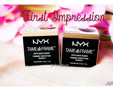 🎥 Video online: First Impression NYX Tame & Frame - Tinted Brow Pomade!♥