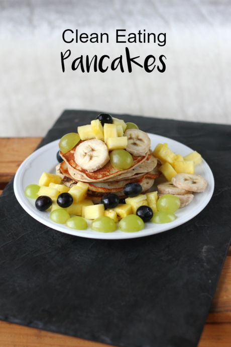 Clean Eating Pancakes, zuckerfrei, vegane Variante