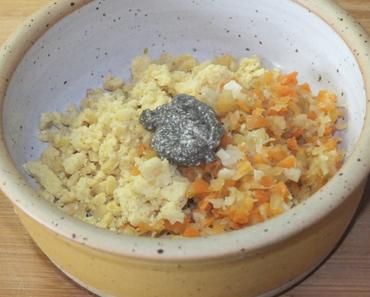 Veggie – Kichererbsen mit Gemüsemix und Chiasamenpaste