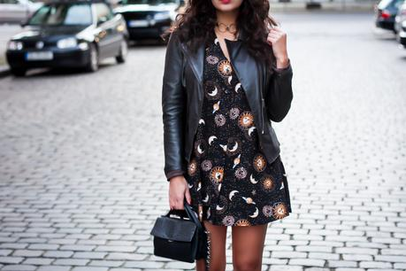 motel babydoll dress stars print grunge inspired partyoutfit ausgeh style boho spring look outfit streetstyle fashionblogger mode blog deutschland germany berlin samieze