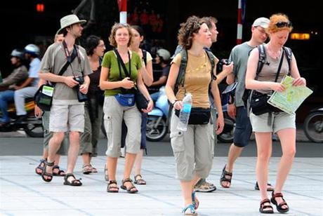 Internationale Besucher nach Vietnam im April und in 4 Monaten 2017