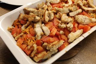 Geschmorter Chicoree mit Putenschnitzel, Möhren und Petersilienwurzel