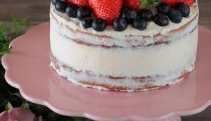 Hochzeits Verkostungstorte Ricotta-Mandel Naked Cake