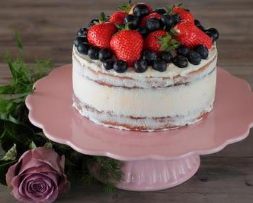 Hochzeits Verkostungstorte - Ricotta-Mandel Naked Cake